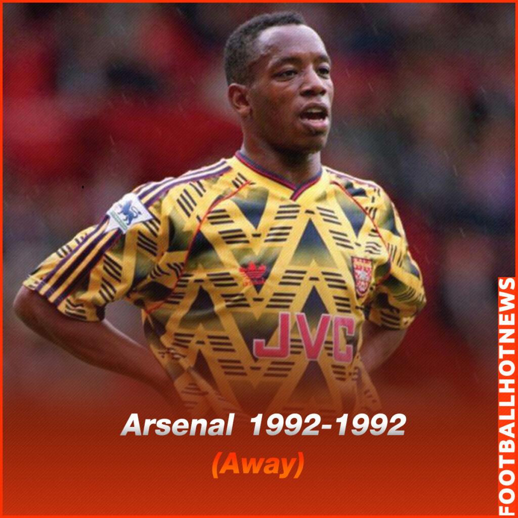 ชุดแข่ง Arsenal 1992-1992 (Away)