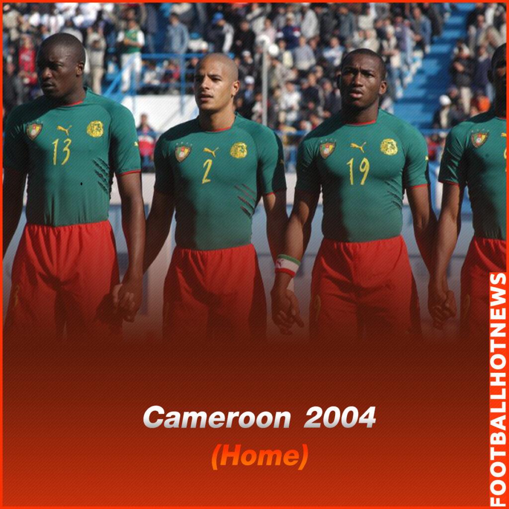 ชุดแข่ง Cameroon 2004 (Home)
