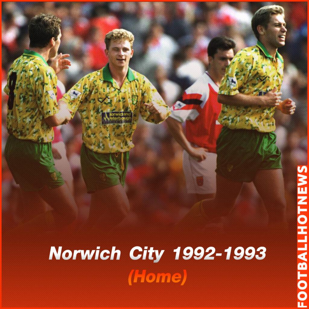 ชุดแข่ง Norwich City 1992-1993 (Home)